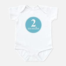 2 Months Old Light Blue Infant Bodysuit