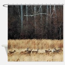 Winter Deer Herd Shower Curtain