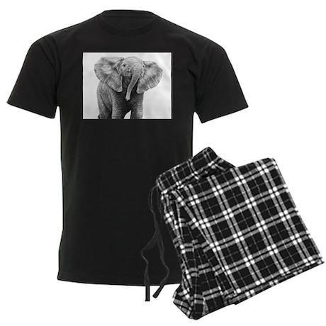 Baby African Elephant Men's Dark Pajamas