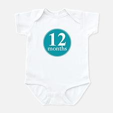 12 Months Old Aqua Infant Bodysuit