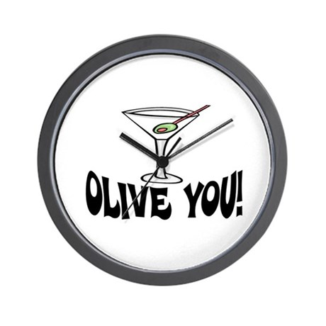 """OLIVE YOU"" MARTINI Wall Clock"