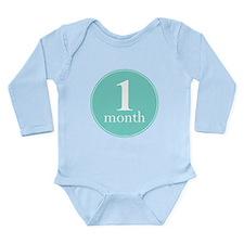 1 Month Old Mint Long Sleeve Infant Bodysuit
