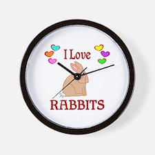 I Love Rabbits Wall Clock