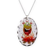 funny fire monster Necklace