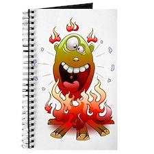 funny fire monster Journal