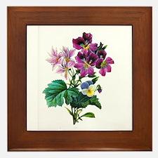 Redoute Bouquet Framed Tile