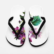 Redoute Bouquet Flip Flops