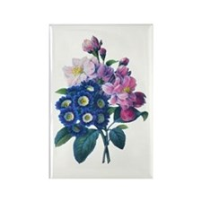 Redoute Bouquet Rectangle Magnet