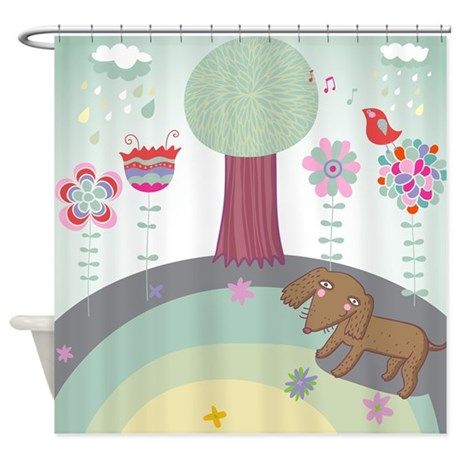Whimsical Landscape Shower Curtain By Bestshowercurtains