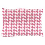 Pink houndstooth Pillow Cases