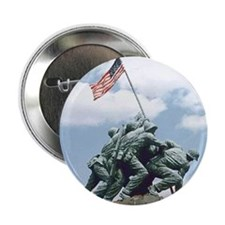 "Marine Corps Memorial Iwo Jima 2.25"" Button"