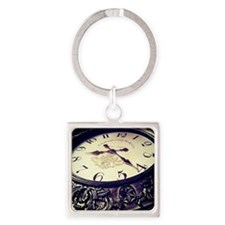 Time Passing Square Keychain