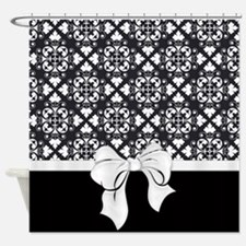 Black And White Damask Shower Curtain white red damask shower curtains | white red damask fabric shower