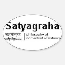 Satyagraha Oval Decal
