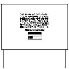 4th Amendment Yard Sign