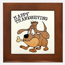 Happy Thanksgiving Dog Framed Tile