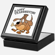 Happy Thanksgiving Dog Keepsake Box