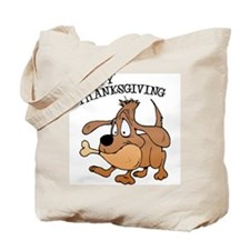 Happy Thanksgiving Dog Tote Bag