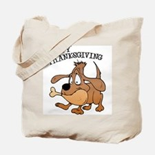 Happy Thanksgiving Dog Tote Bag