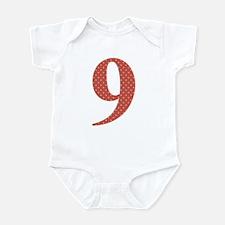 9 Red Polka Dots Pattern Infant Bodysuit