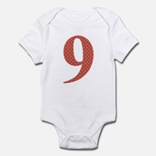9 Red Polka Dots Pattern Onesie