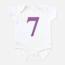 7 Purple Polka Dots Pattern Infant Bodysuit