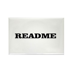 README Rectangle Magnet