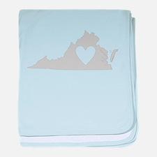 Heart Virginia baby blanket