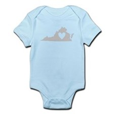 Heart Virginia Infant Bodysuit