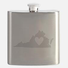 Heart Virginia Flask