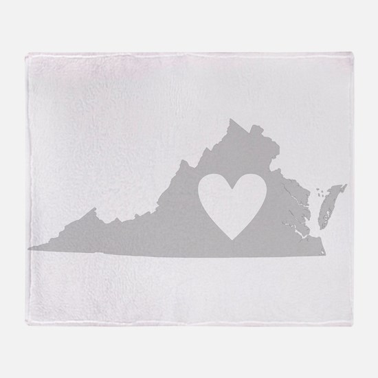 Heart Virginia Throw Blanket
