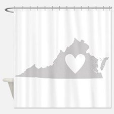 Heart Virginia Shower Curtain