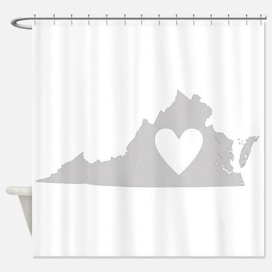 Heart Virginia Shower Curtain