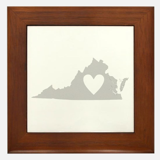 Heart Virginia Framed Tile