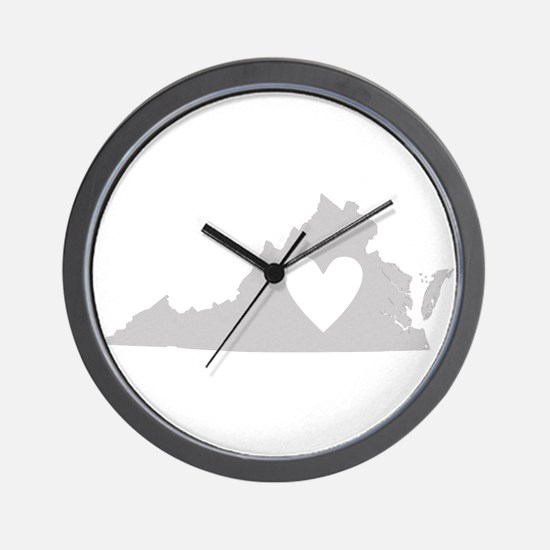 Heart Virginia Wall Clock