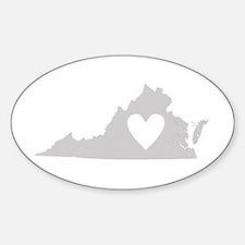 Heart Virginia Sticker (Oval)