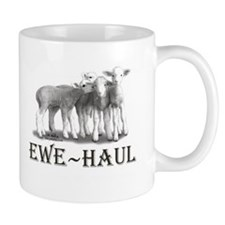 Ewe Haul Black & White Mug