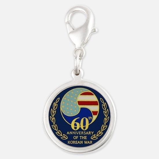 Korea War 60th Anniversary Silver Round Charm