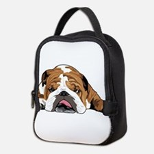 Teddy the English Bulldog Neoprene Lunch Bag