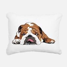 Teddy the English Bulldog Rectangular Canvas Pillo