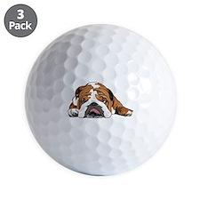 Teddy the English Bulldog Golf Ball