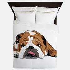 Teddy the English Bulldog Queen Duvet