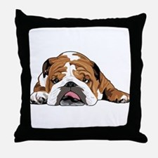 Teddy the English Bulldog Throw Pillow