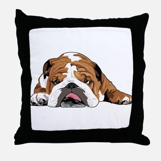 Teddy the English Bulldog Throw Pillow