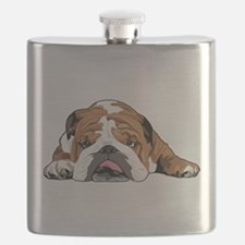 Teddy the English Bulldog Flask