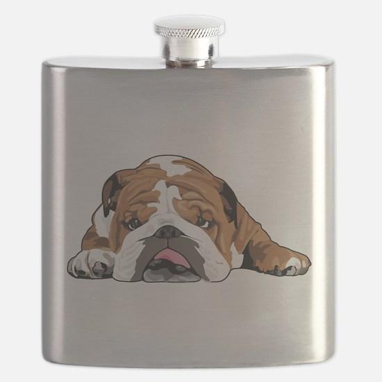 Teddy the English Bulldog Flask