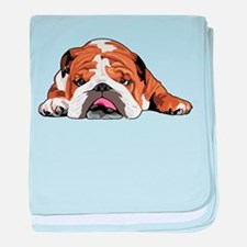 Teddy the English Bulldog baby blanket