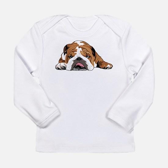 Teddy the English Bulldog Long Sleeve T-Shirt