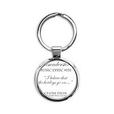 Misunderstood Lyric #131 Round Keychain