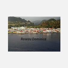 Roseau Dominica Rectangle Magnet